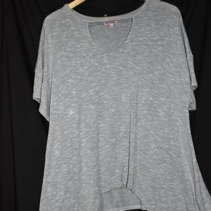 Juicy Couture gray v neck knit tunic top size L